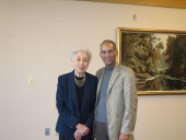Jeanne Jones celebrated her 91st birthday with us today - with long time friend Tony Burroughs.