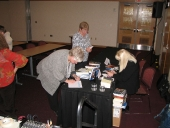 Megan in Book Selling/Signing Mode