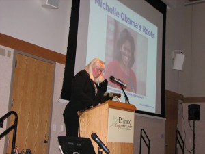 "Megan Smolenyak Smolenyak presents ""Michelle Obama's Roots"""